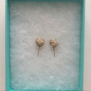 Tiffany & Co. Jewelry - TIFFANY & CO. Sterling Silver Twist Knot Earings